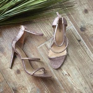 Brand new sparkly Bebe strappy heels